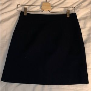 Jcrew navy mini wool skirt